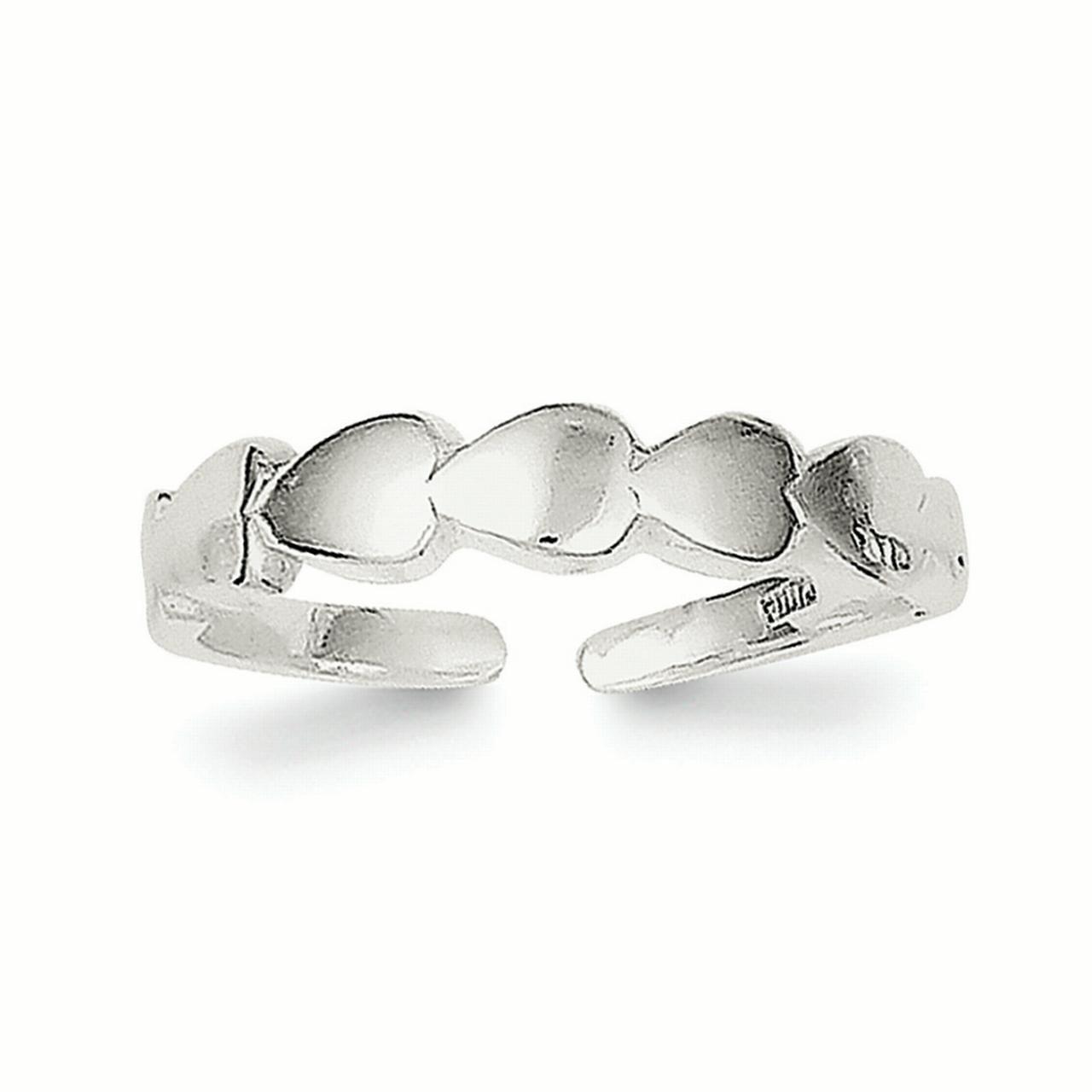 .925 Sterling Silver Heart Lock /& Key Toe Ring MSRP $49