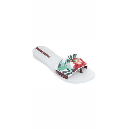 Ipanema Shoes (Ipanema Nectar Sandal in White/Burgundy 26169-WHT/BGY 6 /)