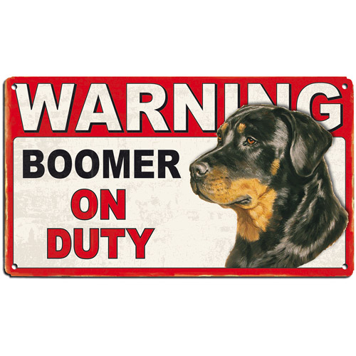 Personalized Dog on Duty Warning Sign