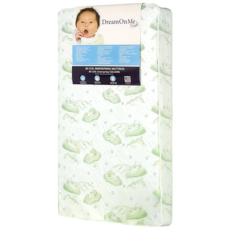 "Dream On Me, Twilight 5"" 80 Coil Spring Crib And Toddler Bed Mattress, Green"
