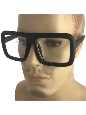 402f1f346c Product Image Mens Bold Frame Large Thick Retro Nerd Bold Big Oversized  Square Clear Lens Glasses