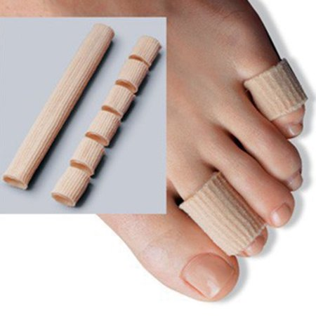 - 2pcs Silicone Tube Toe Gel Protector Corn Soft Cushion Pad Cap Relief Foot Pain Bunion Guard for Feet Care Insoles