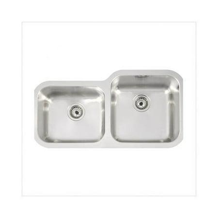 Teka 34\'\' x 18\'\' Undermount Double Bowl Stainless Steel Kitchen ...
