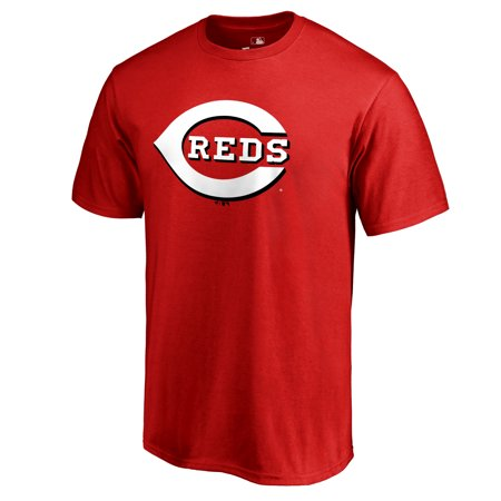 Cincinnati Reds Team Color Primary Logo T-Shirt - Red