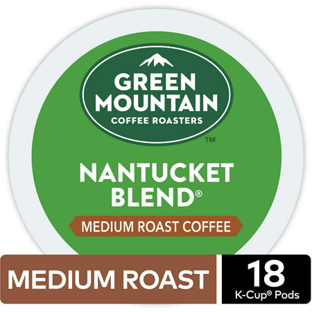 Green Mountain Coffee Nantucket Blend, Keurig K-Cup Pod, Medium Roast, 18 (Green Mountain Nantucket Blend K Cups Best Price)