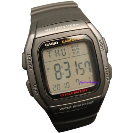 - DIGITAL WATCH DUAL TIME ALARM 50M W96H-1BV
