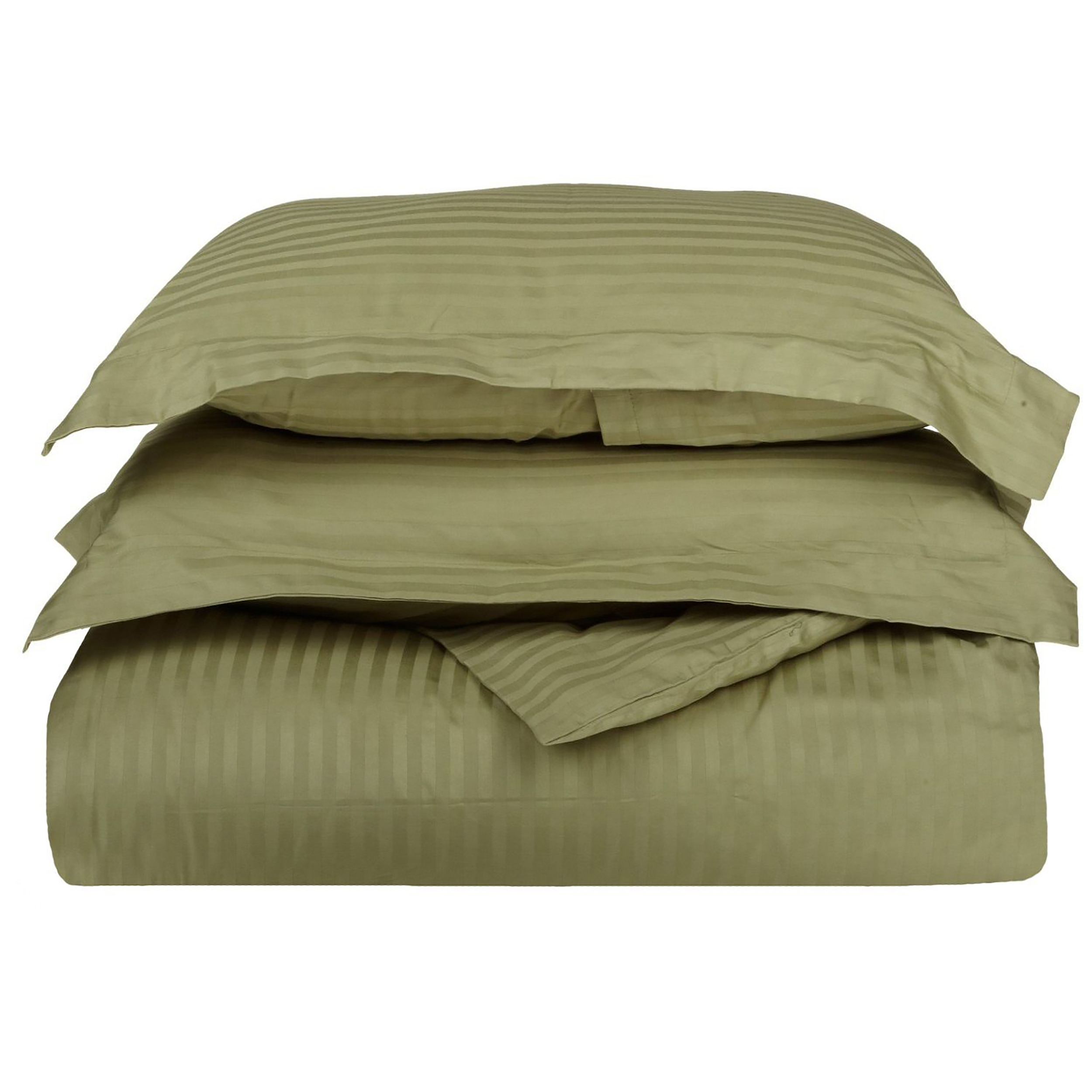 Superior 400 Thread Count 100% Premium Combed Cotton Stripe Duvet Cover Set
