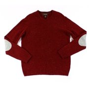 Tasso Elba NEW Red Cherry Men's Size Small S V-Neck Lambswool Sweater