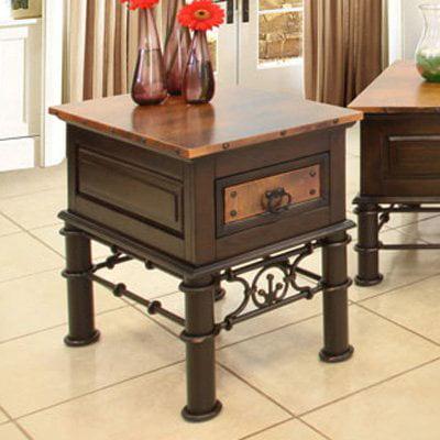 Artisan Valencia Copper End Table