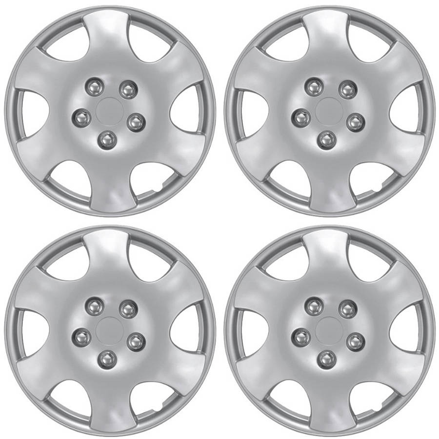 """4 Piece Set A/M Silver ABS Fits 2003 2004 TOYOTA COROLLA 15"""" Wheel Cover Hub Cap"""