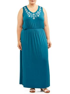 Womens Plus Dresses & Jumpsuits - Walmart.com