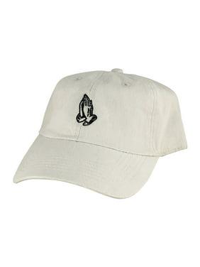 d5de6d07744cd Product Image Pray Wish Hand Cotton Unstructured Adjustable Strapback Hat  Dad Cap Beige Black. CapRobot