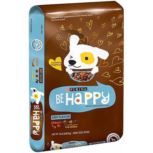 Be Happy Beef Flavor Dog Food, 15 lbs