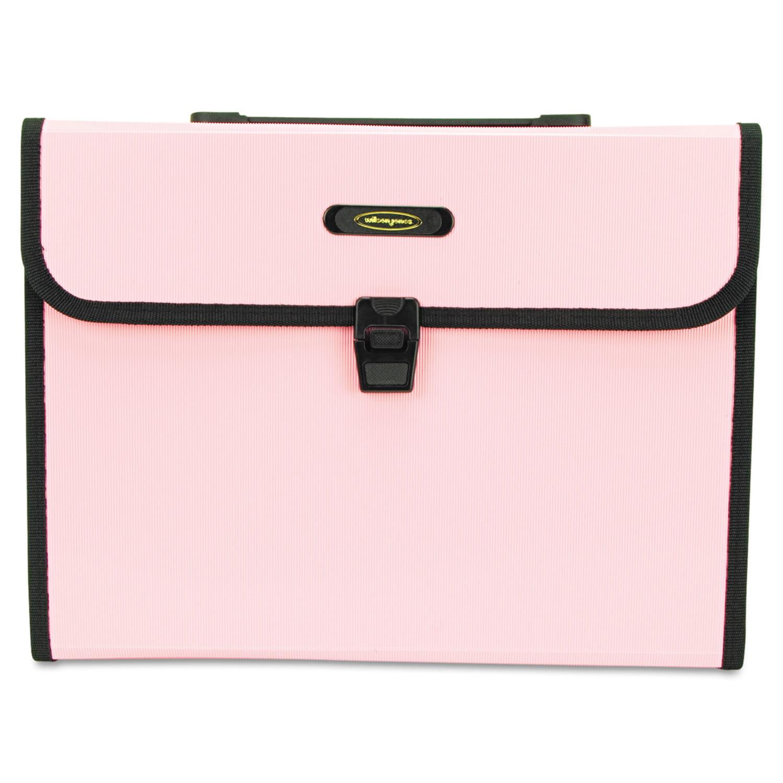 "Wilson Jones Seven-Pocket 5 1/4"" Expanding File, Letter, Pink"