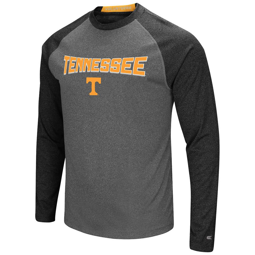 Mens Tennessee Volunteers Long Sleeve Raglan Tee Shirt - S