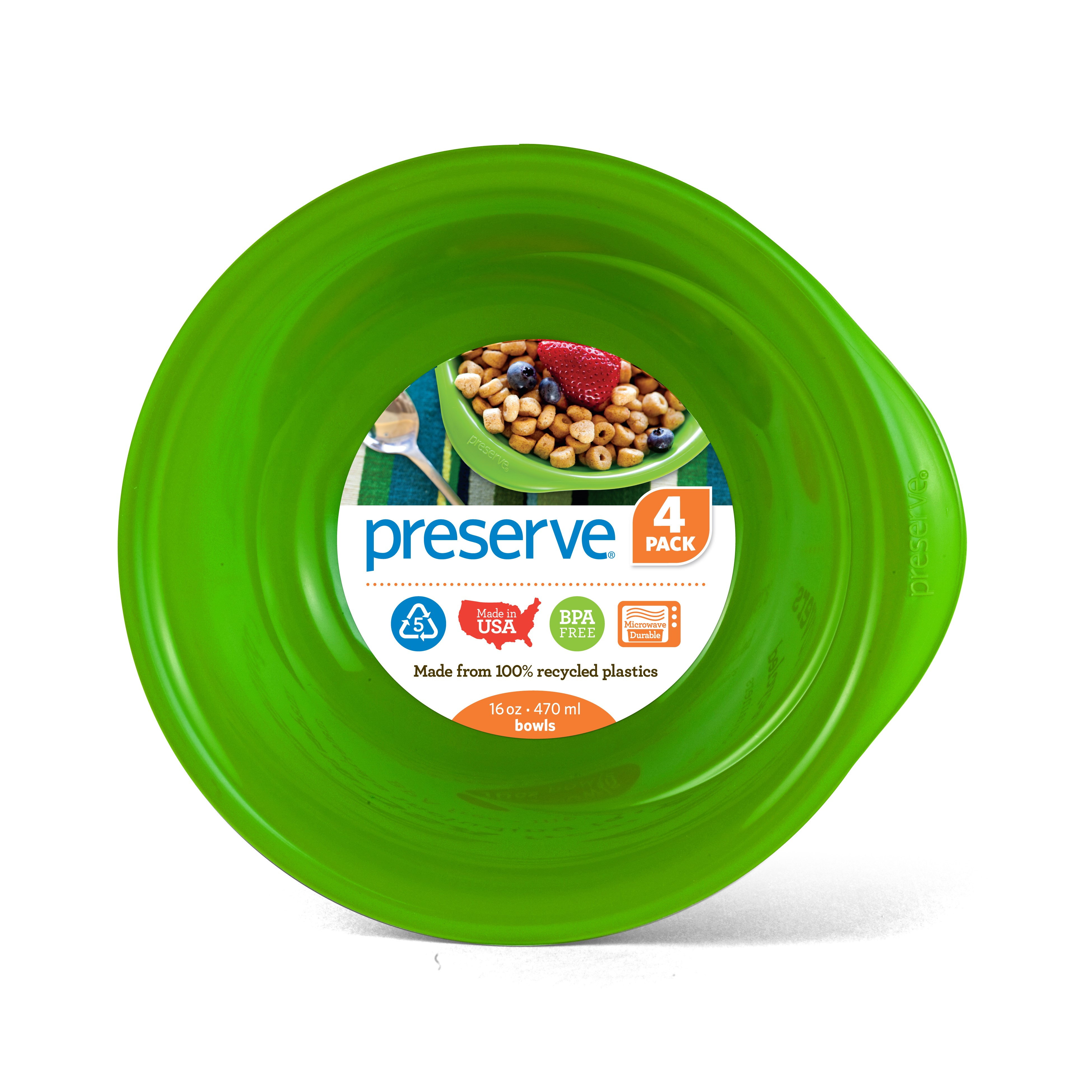 Preserve Everyday Bowls, 16 Oz, Apple Green