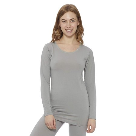Rocky Women's Fleece Lined Thermal Long Sleeve Top Crewneck Underwear Baselayer T-Shirt ()
