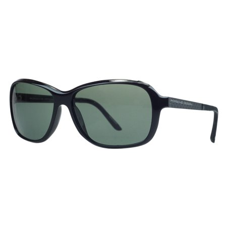 Porsche P8558-A Black Rectangular Sunglasses