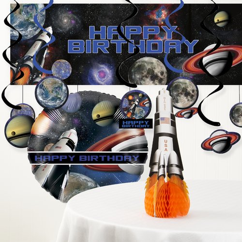 The Party Aisle Space Blast Birthday Party Decoration Kit