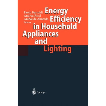 Energy Efficiency in Househould Appliances and Lighting (Paperback) Household appliances encompass a large variety of equipment including the cold appliances (refrigerators and freezers), the wet appliances (washing machines, dishwashers and dryers), the space conditioning appliances (heaters, air- conditioners, heat pumps, fans, boilers), the water heaters, the cooking appliances, a wide array of consumer electronics (such as TVs, VCRs, HiFi systems) and miscellaneous small appliances (such as vacuum cleaners, irons, toasters, hairdryers and power tools). Household appliances save a large amount of domestic labour to perform the household tasks, as well as provide comfort conditions and convenience to the household occupants. The European Community SAVE Programme has promoted the efficient use of energy, in particular in domestic appliances. SAVE has sponsored a variety of studies to characterise the use of the main household appliances and lighting and to identify cost-effective technical options to improve the energy efficiency, as well as to identify the strategies to promote the penetration ofefficient equipment in the market place. National energy agencies, independent experts and appliance manufacturers have participated in the SAVE activities and have done a remarkable job. While the energy efficiency ofthe main household appliances has been improved, at the same time it was possible in most cases to improve the appliance performance, reliability and qualityofservice.