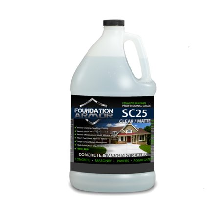 1 Gallon Armor SC25 Siliconate Water Based Penetrating Concrete Sealer and Masonry Water