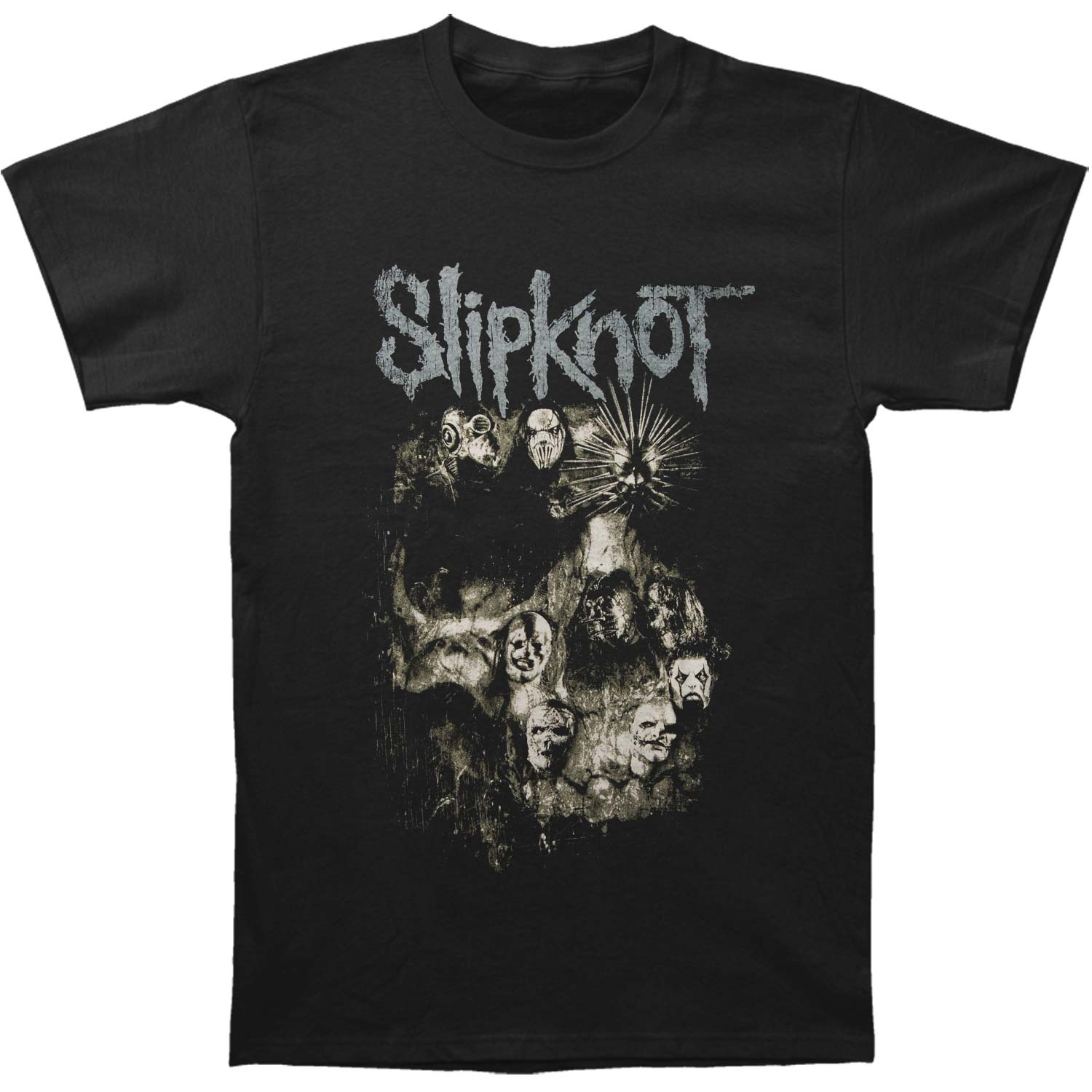 Slipknot Men's  Skull Group T-shirt Black