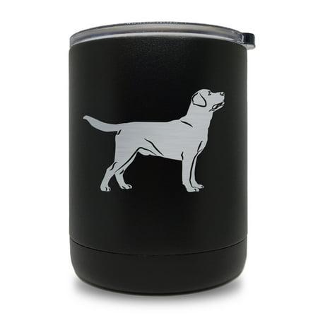10oz Tumbler Mug, Labrador Retriever Dog (Black)