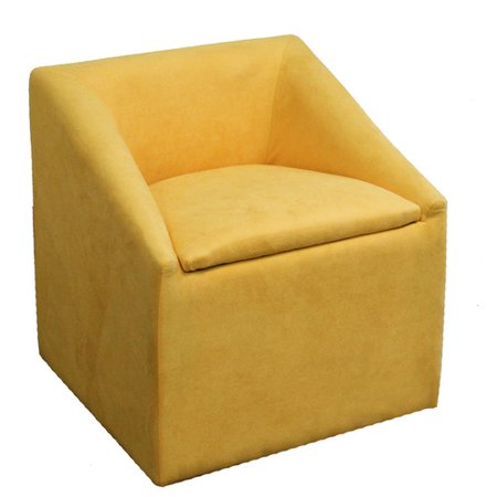 "20.75"" Yellow Accent Chair with Storage"