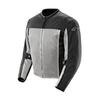 Joe Rocket 'Velocity' Mens Grey/Black Mesh Motorcycle Jacket