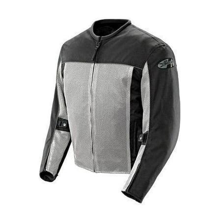 Joe Rocket 'Velocity' Mens Grey/Black Mesh Motorcycle Jacket