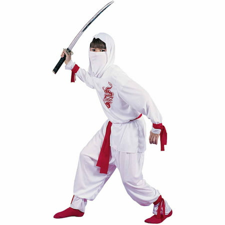 White Ninja Deluxe Child Halloween Costume - White Ninja Costumes For Kids