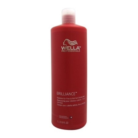 Brilliance Shampoo For Fine to Normal Colored Hair Wella 33.8 oz Shampoo For