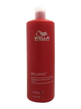 Brilliance Shampoo For Fine to Normal Colored Hair Wella 33.8 oz Shampoo For Unisex
