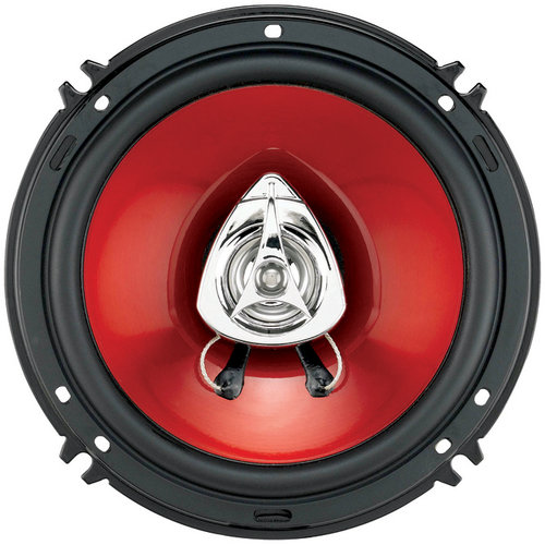 "BOSS DUO-FIT SPEAKER 6.5"" AND 5.25"" LOCATIONS 2-WAY RED POLY INJECTION CONE-CH6552"