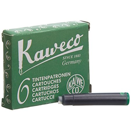 Shot Pens (Kaweco Fountain Pen ink cartridge short green - pack of)
