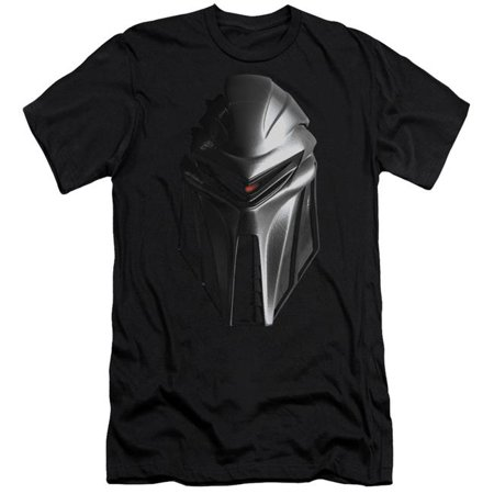 BSG Cylon Head-S by S Adult Short Sleeve Shirt, Black - Extra (Best Sunglasses For Large Head)