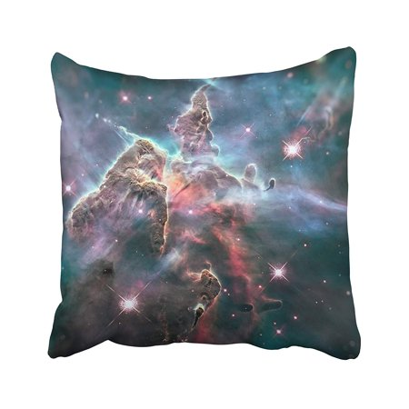 ARHOME Mystic Mountain Region in The Carina Nebula Imaged by Hubble Space Telescope of This Pillow Case Pillow Cover 18x18 inch Throw Pillow