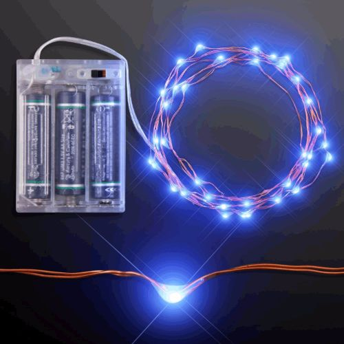 LED Wire String Lights Blue