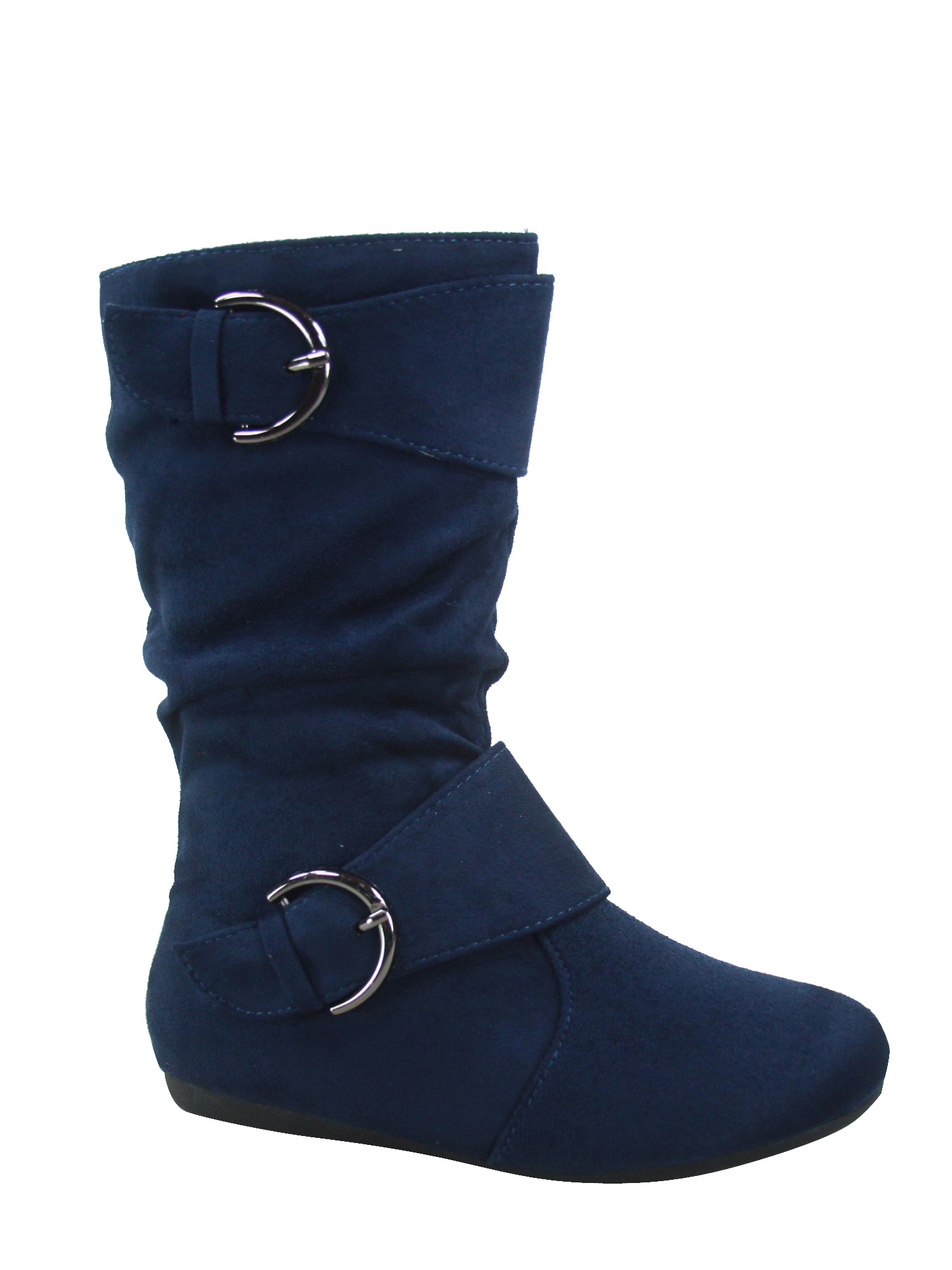 FASHION BUCKLES /& ZIPPER BRAND NEW GIRL/'S CAUSAL WINTER SLOUCH FLAT BOOTS