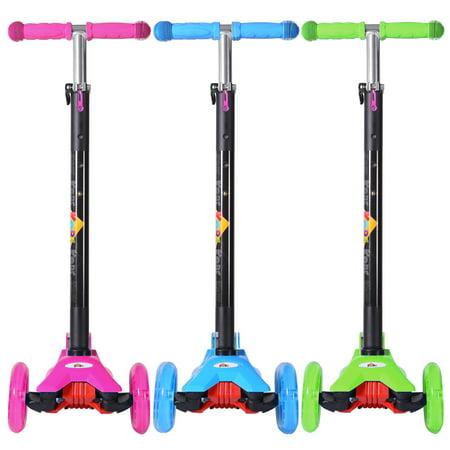 KOBE Junior Pro Mini Scooter - with 4 Swivel LED Light Up Wheels - Kids 2 to 6-yo - Pink - image 5 de 9