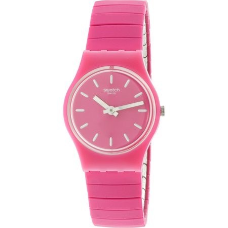 Swatch Women's Flexipink LP149A Pink Silicone Swiss Parts Quartz Fashion Watch ()