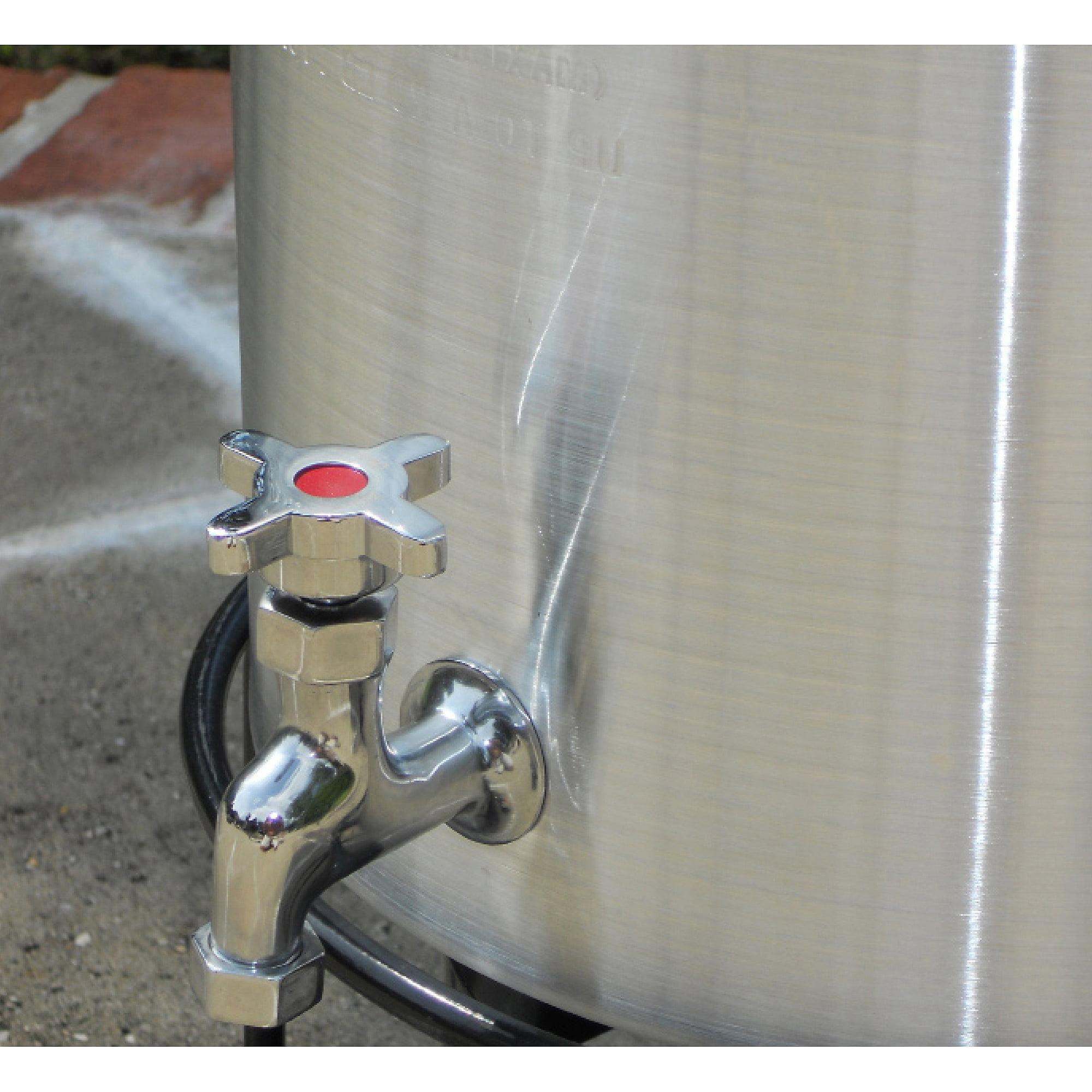 King Kooker 30 qt Aluminum Turkey Pot with Spigot Lid Lifting Rack and Lifting Hook