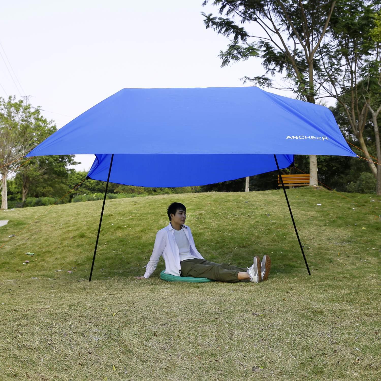 Folding shelter Lightweight Beach Tent Portable Outdoor Canopy SunShade Sun Shelter 9.8 x 9.8