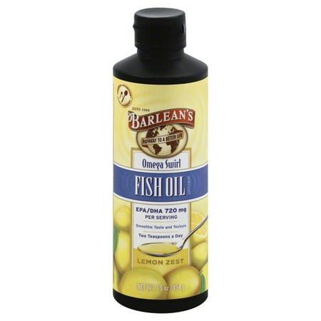 - Barleans Organic Oils Barleans Omega Swirl Fish Oil, 16 oz