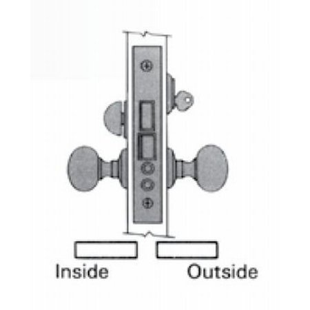 (Baldwin Right Hand Entry / Apartment Lever x Lever 2