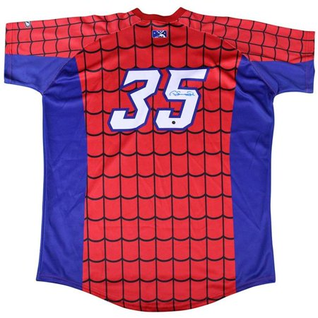 the latest 9359a 1cef1 Steiner Sports SANCJES000013 Gary Sanchez Signed No.35 Game Used Trenton  Thunder Alternate Spiderman Jersey - 5-5-14 - Trenton Thunder LOA