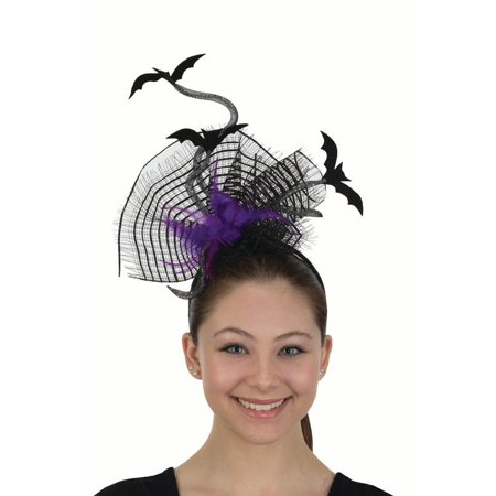 Fun Flying Bats Headband Feathers Felt Headpiece Halloween Costume - Feathered Headpiece
