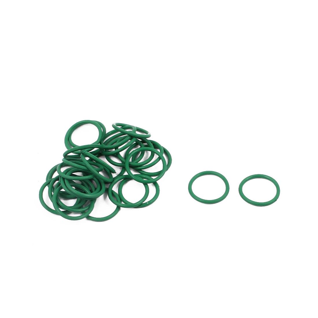 30Pcs 11mm x 1mm FKM O-rings Heat Resistant Sealing Ring Grommets Green