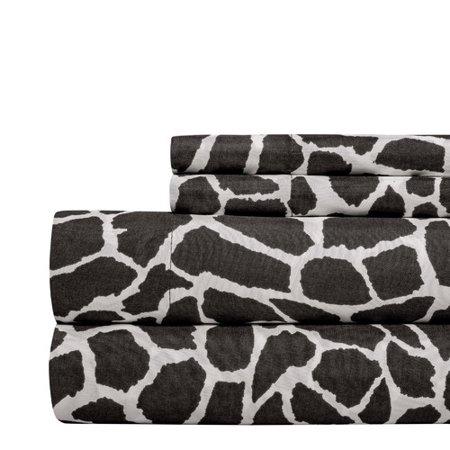 - Aspire Linens Animal Print Super Soft Sheet Set