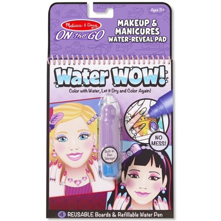 Melissa   Doug On The Go Water Wow  Water Reveal Activity Pad   Makeup And Manicures